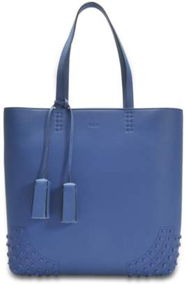 Tod's Wave Tote Bag in Blue Jean Miami Cashmere and Calfskin