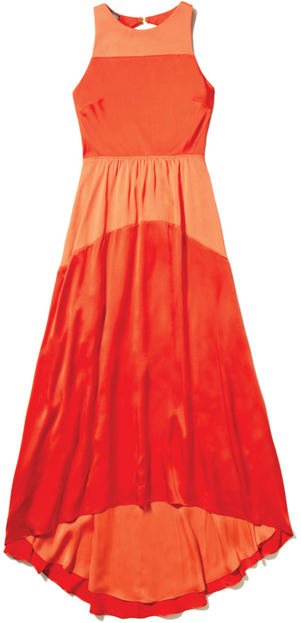 Vince Camuto High Low Colorblock Dress