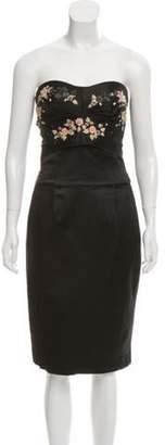 Alexander McQueen Silk Strapless Mini Dress Black Silk Strapless Mini Dress