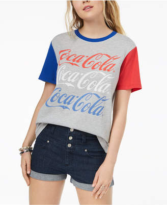 Hybrid Juniors' Coca-Cola Graphic-Print T-Shirt
