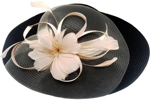 Co San Diego Hat Lightweight Dressy Hat with Satin & Feathers