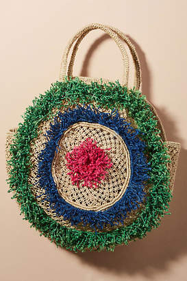 The Jacksons Lola Round Straw Bag