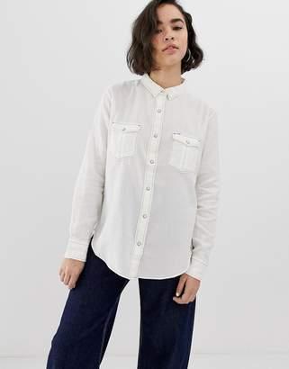 Lee Jeans Western white denim shirt