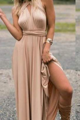 Factory Unknown Taupe Halter Style Dress