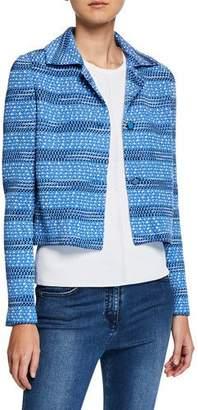 St. John Tweed Knit Cropped Jacket