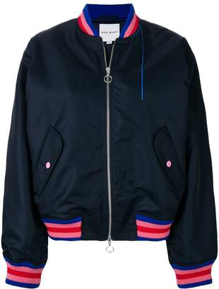 Mira Mikati retro car bomber jacket