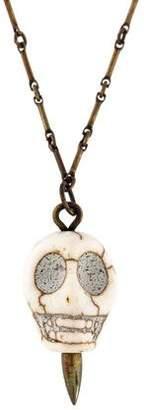 Pamela Love Howlite Mini Skull Pendant Necklace