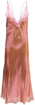 Maria Lucia Hohan Jade metallic V-neck dress