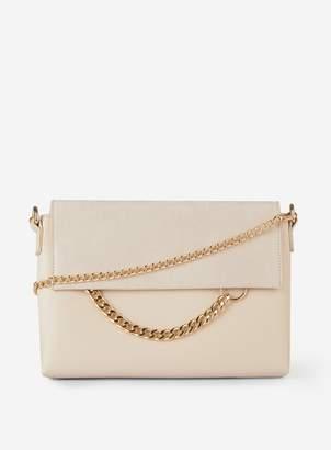 Dorothy Perkins Womens Cream Chain Ring Clutch Bag