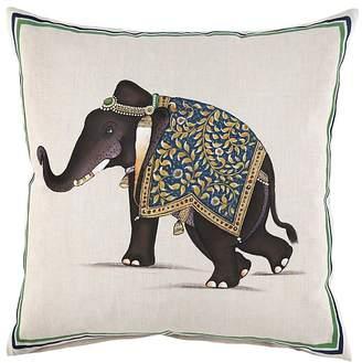 "John Robshaw Indian Elephant Decorative Pillow, 20"" x 20"""