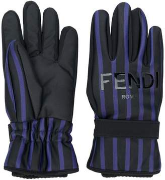 Fendi striped gloves