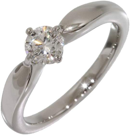 Bvlgari Bulgari Bvlgari PT950 Platinum 0.34ct Diamond Ring Size 4.25