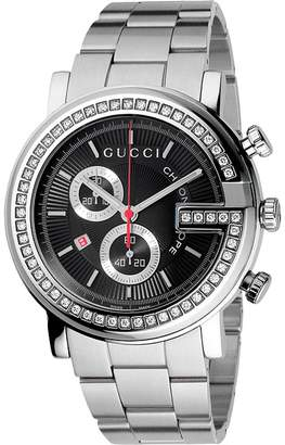 Gucci G Chrono 44mm Chronograph Stainless Steel w/ Diamonds Watch-YA101324 Watches