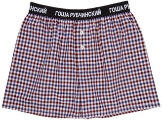 Gosha Rubchinskiy Red Check Boxers