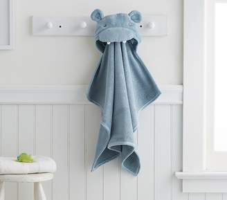 Pottery Barn Kids Hippo Baby Bath Wrap