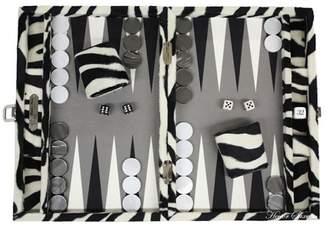 Hector Saxe Faux Fur Zebra Backgammon Set