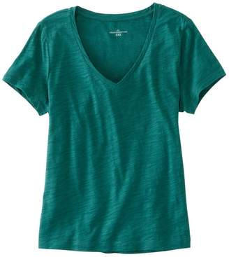 L.L. Bean L.L.Bean Women's Signature Essential Knit Tee, Short Sleeve V-Neck