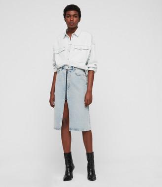 AllSaints Harper Oversized Denim Shirt