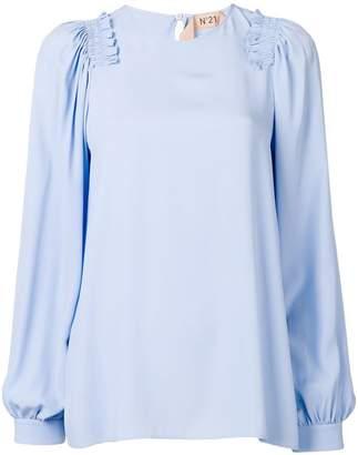 No.21 ruffle trim blouse