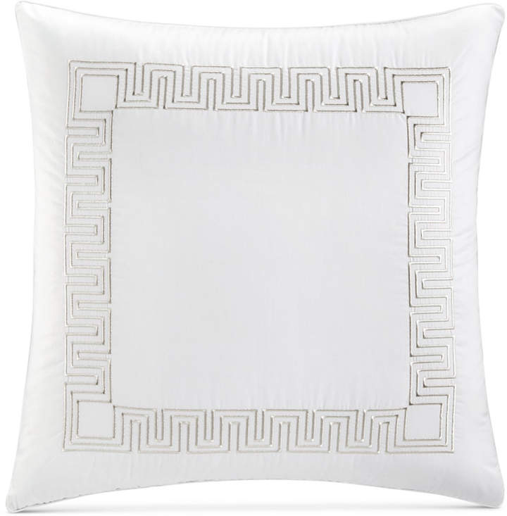 Greek Key Cotton Platinum European Sham, Created for Macy's Bedding