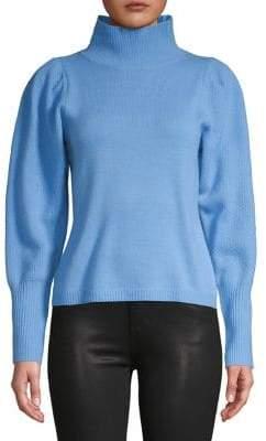 Diane von Furstenberg Balloon-Sleeve Wool Cashmere Sweater