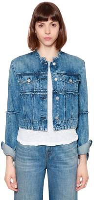 J Brand SLIM CROP DENIM JACKET