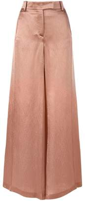 Valentino textured wide leg trousers