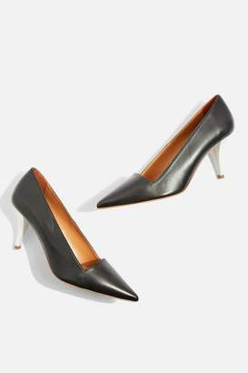 Topshop Jubilee Black Pointed Court Shoes