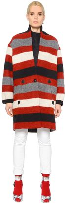 Striped Boiled Wool Blend Coat $530 thestylecure.com