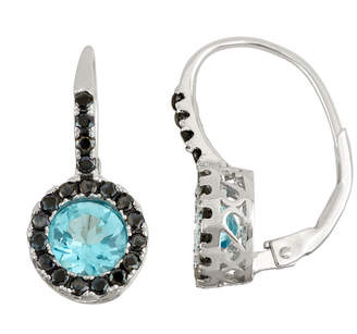 FINE JEWELRY Genuine Blue Topaz & Lab-Created Black Spinel Sterling Silver Earrings