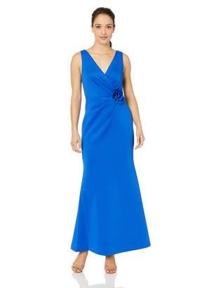 100c61082c7b Jessica Howard JessicaHoward Women's Petite Sleeveless Surplice Sheath Gown  with Rosette Detail