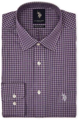 U.S. Polo Assn. Purple & Grey Gingham Dress Shirt