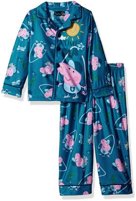 Peppa Pig Big Boy's George Coat Style Pajama Set Sleepwear