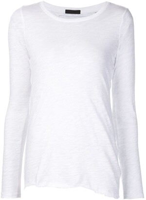 ATM Anthony Thomas Melillo asymmetric hem longsleeved T-shirt