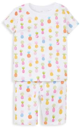 Kissy Kissy Baby Girl & LIttle Girl's Two-Piece T-Shirt & Shorts Pajama Set
