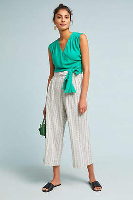 Anthropologie Cropped Wrap Blouse