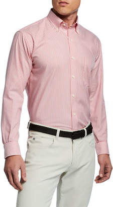 Peter Millar Men's Capri Stripe Woven Sport Shirt