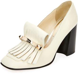 c8d38228339 Valentino Kiltie Leather Loafer Pumps