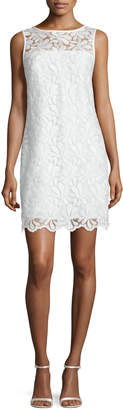Trina Turk Sleeveless Lace Sheath Dress, Whitewash