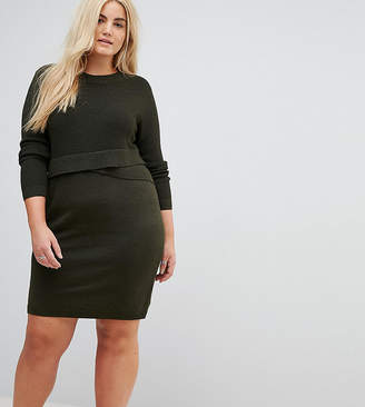 Asos Knitted Dress with Wrap Detail