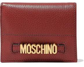Moschino Embellished Textured-leather Wallet