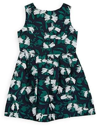 Charabia Kids' Floral Jacquard Dress