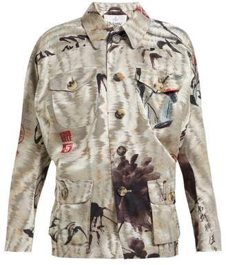 Vivienne Westwood Archival Satin Jacquard Jacket - Womens - Grey Multi