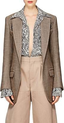Chloé Women's Cotton-Blend Tweed Harness Jacket