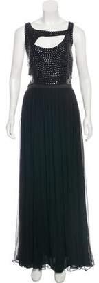 Rachel Gilbert Embellished Chiffon Dress