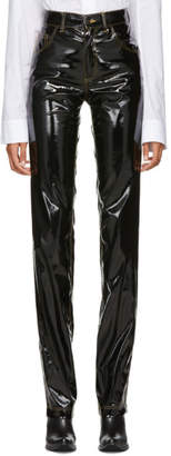 Ottolinger Black Faux-Leather Shiny Basic Trousers