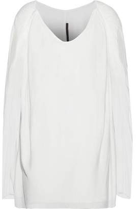 Rick Owens Lilies Oversized Gathered Jersey Top