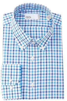 Nordstrom Rack Grid Print Traditional Fit Dress Shirt