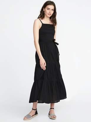 Old Navy Tie-Belt Sleeveless Tiered Maxi Dress for Women