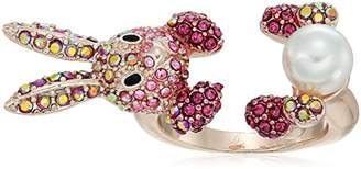 Betsey Johnson Rose Gold and Bunny Ring